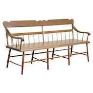Deacon or Hall Bench, Antique 1840 Ohio Country Primitive #29071