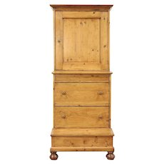 Dutch Traditional Country Pine Bachelor Chest & Kneeler #29129
