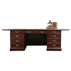 Kittinger Signed Vintage Office Library or Executive Desk, Conference Top #29163