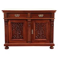 Cherry Antique Sideboard, Server, Hall or TV Console Cabinet #29227