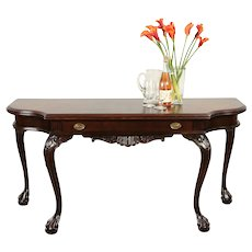 Convertible Antique Dining, Sofa, Buffet or Console Table, Claw Feet #29249