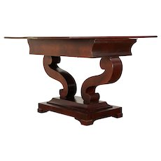 Empire 1835 Mahogany Antique  Hall Console, Top Flips to Game Table #29259