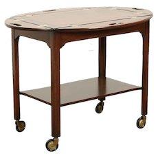 Butler Style Bar Cart, Vintage Tea or Dessert Trolley, Signed Baker #29280