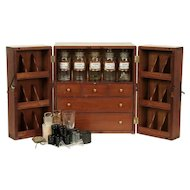 Portable Antique Physician Apothecary Case, Bottles, Signed Bryce, London #29283