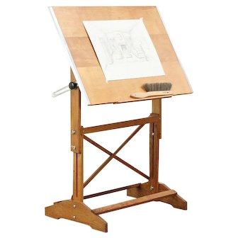 Drafting Table, Vintage Adjustable Artist Desk, Wine Table or Island #29314
