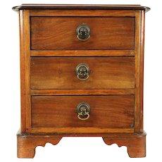 Victorian Antique Walnut Miniature Jewelry Chest, Sample or Doll Dresser #29340