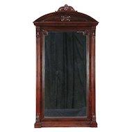 Victorian Antique Mahogany Hall, Wall or Mantel Mirror, Vienna #29343