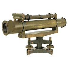 Transit or Theodolite, Antique Brass Surveyor Instrument, Stanley, London #29414
