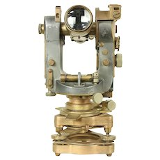 Transit or Theodolite, Antique Brass Surveyor, Cooke, York, England #29415