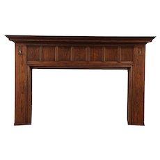 Oak Architectural Salvage Antique Giant Craftsman Fireplace Mantel #29468