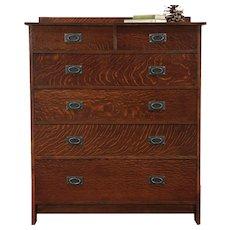 Art & Crafts Mission Oak Craftsman Style Tall Chest or Dresser #29483
