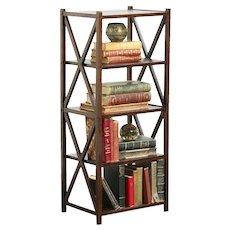 Arts & Crafts Mission Oak Antique Craftsman Bookshelf or Magazine Caddy #29503