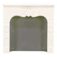 Classical Faux Marble Architectural Salvage Vintage Fireplace Mantel #29512