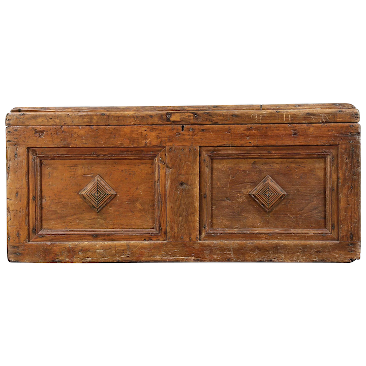 Country Pine Antique Primitive Carpenter Tool Chest, Trunk, Coffee : Harp  Gallery Antique Furniture | Ruby Lane