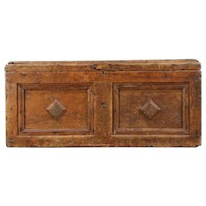 Country Pine Antique Primitive Carpenter Tool Chest, Trunk, Coffee Table  #29529