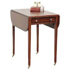 English Regency Antique Pembroke Lamp, Sofa or Breakfast Table  #29547