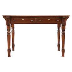 Victorian Eastlake Antique Oak Library Table, Desk or Kitchen Table #29552