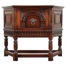 English Renaissance Antique Sideboard, Huntboard, Server, Kittinger #29554