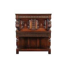 English Renaissance Antique Walnut China Cabinet, Signed Kittinger #29556