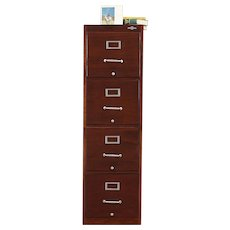 Midcentury Modern 4 Drawer File, Vintage Globe Wernicke Filing Cabinet #29575