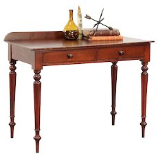 Walnut Antique 1825 Hall or Console Table, Writing Desk #29585