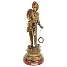 Rescue Le Secours Sculpture French Antique Sailor Statue #29596