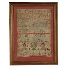 Sampler Early 1800's Antique Needlework, Signed Ann Simpson Aged 12  #29648