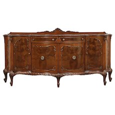Romweber Louis XV de Gaulle Carved Sideboard, Server or Buffet  #29671