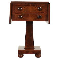 Cherry & Mahogany Antique Empire Dropleaf End Table or Nightstand #29685