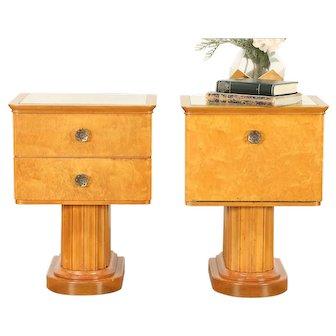 Midcentury Modern Pair of 1960 Vintage Scandinavian Nightstands #29690