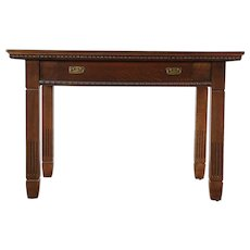Classical Antique 1900 Quarter Sawn Oak Library or Hall Table or Desk #29696