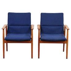 Pair of Danish Midcentury Modern Vintage Teak Chairs, Signed Sibast #29729