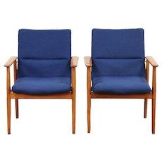 Pair of Danish Midcentury Modern Vintage Teak Chairs, Signed Sibast  #29745