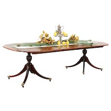 Baker Charleston Collection Banded Mahogany Dining Table, Extends 8 1/2' #29774
