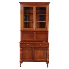 New England Antique Empire Cherry Secretary Desk & Bookcase #29830