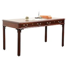 Traditional Vintage Walnut Library Table or Writing Desk, Mt. Airy #29870