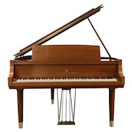 Steinway 1956 Midcentury Modern Model M Mahogany Grand Piano & Bench #29878