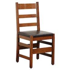Mission Oak Arts & Crafts Signed L&JG Stickley Antique Craftsman Chair #29914