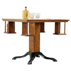 Oak & Iron Antique Pub, Tavern, Game Table, Mug Shelves, Lang Milwaukee #29933
