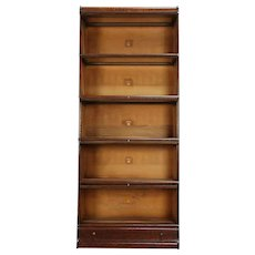 Oak Antique 5 Stack Lawyer Bookcase, Signed Macey #29975