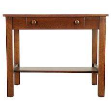 Arts & Crafts Mission Oak Antique 1910 Craftsman Library Table or Desk #29993