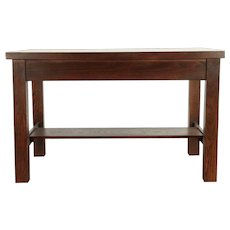 Arts & Crafts Mission Oak Antique Craftsman Library or Hall Table #29994