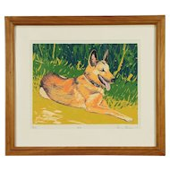 Rocky, Original Serigraph or Silk Screen Dog Print, Bodden 1992 #30053