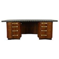 Midcentury Modern 1960 Vintage Executive Conference Desk, Stowe Davis #30088