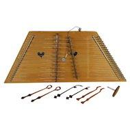Hammered Dulcimer Folk Instrument & Case, Signed Dusty Springs #30099