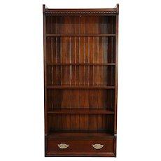 Oak Antique Bookcase, Shelf or Bath Cabinet, Drawer & Adjustable Shelves #30111