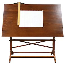 Drafting or Artist Desk, Drawing or Wine Table, Island Signed Post #30112