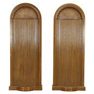 Pair of Architectural Salvage Antique Niches, Shell Design Crests #30245