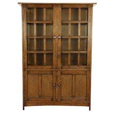 Craftsman Style Oak Bookcase or Kitchen Pantry Cabinet #30257