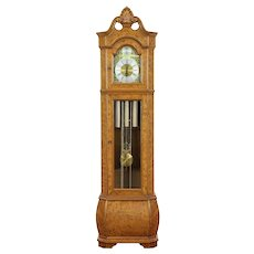 Grandfather Tall Case Vintage Clock, Westminster Chime, Hermle #30261